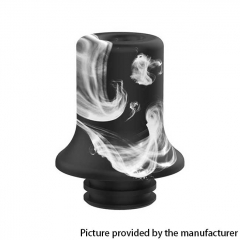 Authentic Brunhilde MTL RTA Replacement Long Resin Drip Tip - Black White