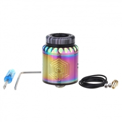Artha V2 Style 24mm RDA Rebuildable Dripping Atomizer w/BF Pin - Rainbow