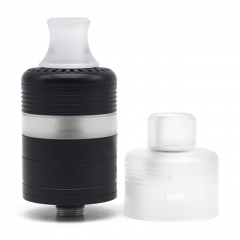 Whisper Style 22mm RTA Rebuildable Tank Atomizer 2.6ml w/RDA Cap - Black White