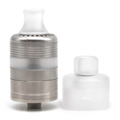 Whisper Style 22mm RTA Rebuildable Tank Atomizer 2.6ml w/RDA Cap - Silver White