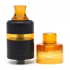 Whisper Style 22mm RTA Rebuildable Tank Atomizer 2.6ml w/RDA Cap - Black Yellow