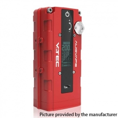 Authentic Augvape VTEC1.8 200W VV Variable Voltage Box Mod - Red