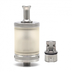 ULTON Typhoon GTR 316SS 23mm RTA Rebuildable PSU Tank Atomizer 4ml 1:1  + DL Plus Pole - Silver