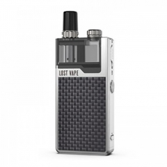 Authentic Lost Vape Orion Plus 22W DNA Pod System Kit 950mAh 2ml/0.25ohm/0.5ohm - Silver Textured Carbon Fiber