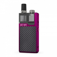 Authentic Lost Vape Orion Plus 22W DNA Pod System Kit 950mAh 2ml/0.25ohm/0.5ohm - Purple Textured Carbon Fiber