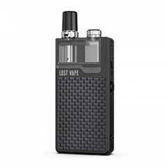 Authentic Lost Vape Orion Plus 22W DNA Pod System Kit 950mAh 2ml/0.25ohm/0.5ohm - Black Textured Carbon Fiber