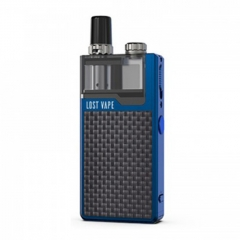 Authentic Lost Vape Orion Plus 22W DNA Pod System Kit 950mAh 2ml/0.25ohm/0.5ohm - Blue Textured Carbon Fiber