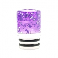 ULPS Replacement 510 Resin MTL Drip Tip 10mm - Purple