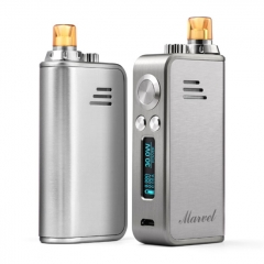 Authentic Hotcig Marvel 30W 1200mAh VW Mod Pod System Starter Kit 0.6ohm/1.2ohm - Silver