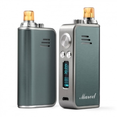 Authentic Hotcig Marvel 30W 1200mAh VW Mod Pod System Starter Kit 0.6ohm/1.2ohm - Gray