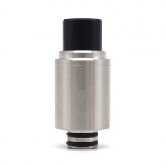 (Ships from Germany)ULTON Rhino Dry Herb 510 Drip Tip Flavor Enhancer 1pc - Silver