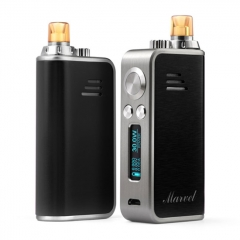 Authentic Hotcig Marvel 30W 1200mAh VW Mod Pod System Starter Kit 0.6ohm/1.2ohm - Black