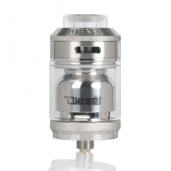 Authentic Timesvape Diesel 25mm RTA Rebuildable Tank Atomizer 2ml/5ml - Silver
