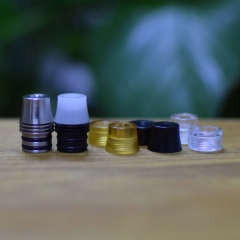Kaser Style 510 Replacement Drip Tip Set w/ MTL Mouthpiece - Black + Silver + Translucent + Brown