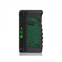(Ships from HK)Authentic Vandy Vape Jackaroo 100W 18650/20700/21700 TC VW Box Mod - Green Anaconda