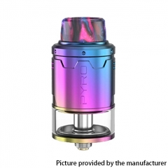 Authentic Vandy Vape Pyro V3 24mm RDTA Rebuildable Dripping Tank Atomizer 2ml - Rainbow