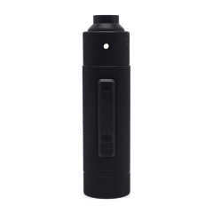 Vazzling Pur Slam Piece 30mm 18650/20700/21700/20650 Hybrid Mechanical Mod (Knurling Version) w/Shot RDA - Black