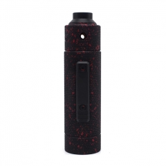 Vazzling Pur Slam Piece 30mm 18650/20700/21700/20650 Hybrid Mechanical Mod (Knurling Version) w/Shot RDA - Black Red Dot