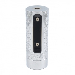 Vazzling Pur Slam Piece 30mm 18650/20700/21700/20650 Hybrid Mechanical Mod (Engraving Version) - Silver