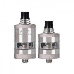 Authentic Steam Crave Glaz Mini 23mm MTL RTA Rebuildable Tank Atomizer 2ml/5ml - Silver
