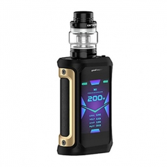 Authentic GeekVape Aegis X 200W TC VW Variable Wattage Box w/ Cerberus Tank Kit 5.5ml - Black Gold
