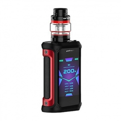Authentic GeekVape Aegis X 200W TC VW Variable Wattage Box w/ Cerberus Tank Kit 5.5ml - Black Red