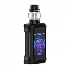 Authentic GeekVape Aegis X 200W TC VW Variable Wattage Box w/ Cerberus Tank Kit 5.5ml - Stealth Black