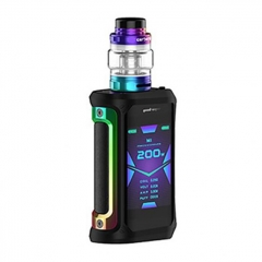Authentic GeekVape Aegis X 200W TC VW Variable Wattage Box w/ Cerberus Tank Kit 5.5ml - Black Rainbow