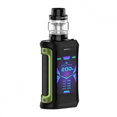 Authentic GeekVape Aegis X 200W TC VW Variable Wattage Box w/ Cerberus Tank Kit 5.5ml - Black Green