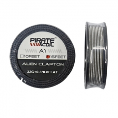 Authentic Pirate Coil A1 Alien Clapton 32GA+0.3*0.8Flat 15 Feet