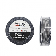 Authentic Pirate Coil A1 Tiger 26GA+0.2*0.8Flat 15 Feet