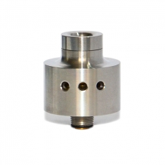 Mojia SiChro Style 22mm RDA Rebuildable Dripping Atomizer w/ BF Pin - Silver