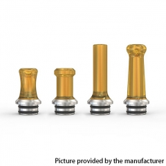 Authentic Ambition Mods Multi-function MTL PEI Drip Tip Mouthpiece + Stainless Steel 510 Base - Brown (Polished)