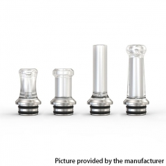 Authentic Ambition Mods Multi-function MTL PC Drip Tip Mouthpiece + Stainless Steel 510 Base - White(Polished)