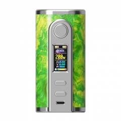 Authentic Ultroner GAEA 200W SS Stabwood TC VW Variable Wattage Box Mod - Green