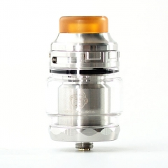 Coil Father King Dual 29mm RTA Rebuildable Tank Atomizer 4ml - Silver