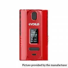 Authentic Uwell Evdilo 200W 18650/20700/21700 TC VW Variable Wattage Box Mod - Red