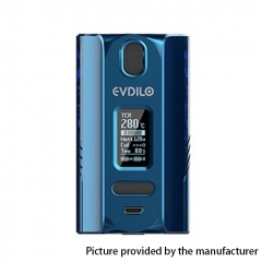 Authentic Uwell Evdilo 200W 18650/20700/21700 TC VW Variable Wattage Box Mod - Blue