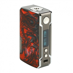 (Ships from HK)Authentic VOOPOO DRAG 2 Platinum 177W TC VW APV Mod 18650 - Platinum Scarlet