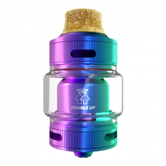 Authentic Goforvape Double UP 23mm RTA Rebuildable Tank Atomzier 2ml - Rainbow