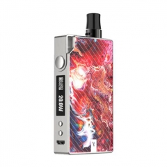 Authentic Vaporesso Degree Meshed 30W 950mAh VW Box Mod Pod System Starter Kit 2ml/0.6ohm/1.3ohm - Red