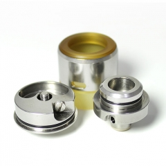 YFTK Turbo Style 22mm RDA Rebuildable Dripping Atomizer w/BF Pin  - Silver