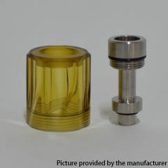 Diamond Cap for Fev v4/4.5 RTA 3.5ml Short Version PEI Version - Yellow