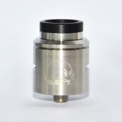 C2MNT V2 Style 24mm RDA Rebuildable Dripping Atomizer w/ BF Pin - Silver