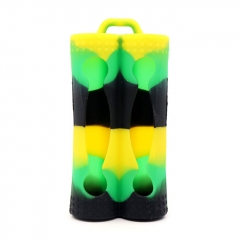 YUHETEC Silicone Case for Dual 18650 Battery - Green Yellow