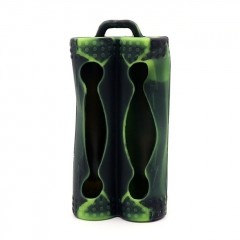 YUHETEC Silicone Case for Dual 18650 Battery - Green Camo