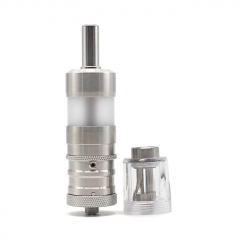 ULTON Fev 4 Style MTL RTA + Diamond Cap for Fev v4/4.5 RTA 3.5ml Short Version PC Version - Silver + Transparent