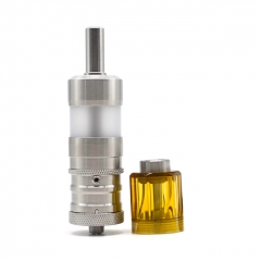 ULTON Fev 4 Style MTL RTA + Diamond Cap for Fev v4/4.5 RTA 3.5ml Short Version PEI Version - Silver + Yellow