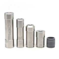 (Ships from Germany)ULTON Satburn Satmod Style 22mm /17mm Style Hybrid Mod 14500/18350/18500/18650 Kit - Silver