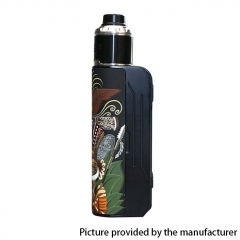 Authentic Hippovape Papua Box Mod 100W VV VW Box Mod 18650/20700/21700 w/24mm RDA Kit - Black